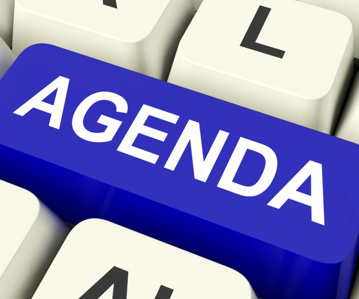 Agenda Key On Keyboard Meaning Schedule Outline Or Lineup