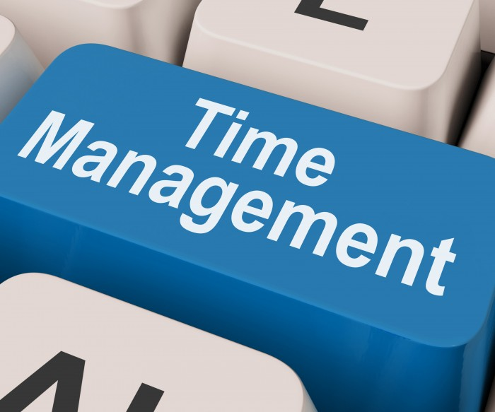 Time Management Key Showing Organizing Schedule Online