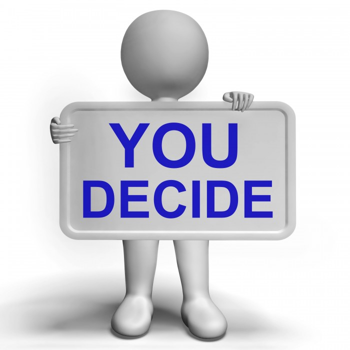 Decision Sign Represents Uncertainty And Making Decisions
