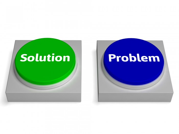 Problem And Solution Buttons Showing Problems Or Solving